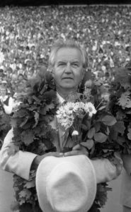 Heino Kaljuste oma viimasel noortepeol 1987. aastal. (Foto: Tartu Linnamuuseum, http://muis.ee/museaalview/1413753)